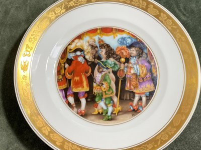 "Royal Copenhagen. 6 plates ""Hans Andersen stories"""