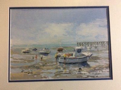 Франция. Картина «Отлив на океане»