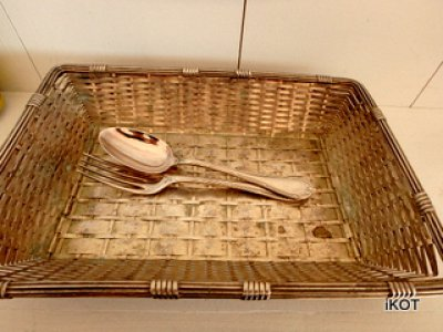 Christofle. France. Twisted basket-tray for small items