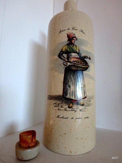 vintage Bottle for wine Pear Tincture liquor  France Normandy