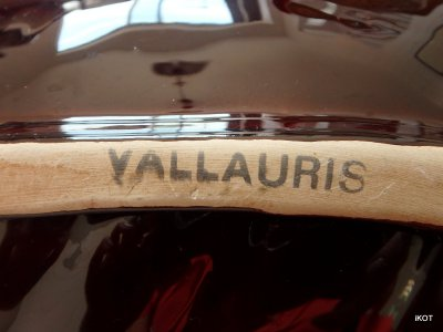 vintage Vallauris Plate-tray Shell Conch