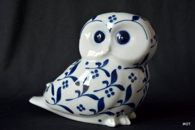 "Villeroy&Boch porcelain figures ""Two Owls"" Manila Royal Blue"