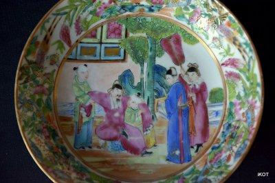 "antique Chine Canton Tea pair ""Pink China"" rose mandarin"
