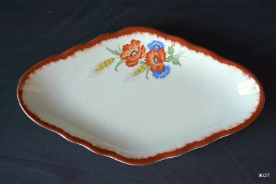 Two antique porcelain trays for small items France, Balins-les-Bains