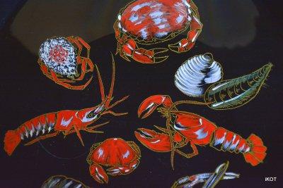 фарфоровая Декоративная тарелка Морские жители Лонгвью