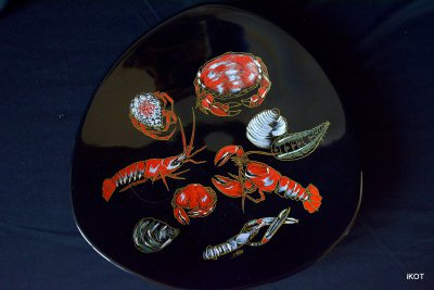 vintage Longwy Plates Sea Inhabitants l.Valenti