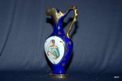 Limoges porcelain vase Napoleon
