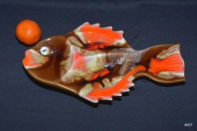 Керамика Vallauris Пластина-поднос Оранжевая Рыбка