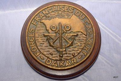 знак сувенир французского военного корабля «Зеленый мыс - Дакар»