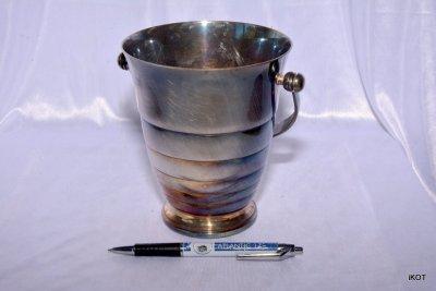 Vintage silvering basket for ice, France