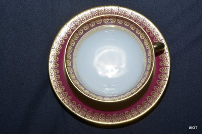 Limoges Coffee service set Bordo and gold