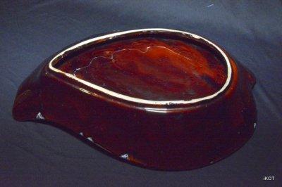 Vallauris. Большая ваза-лоток «Золотой Лист»