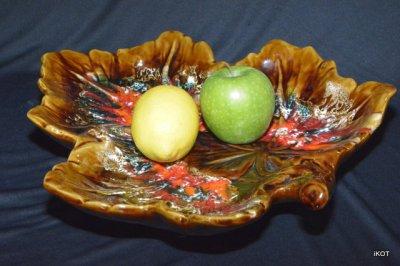 """Vallauris. Large Vase-tray """"Marple Leaf"""""""