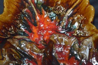 Vallauris. Большая ваза-лоток «Кленовый Лист»