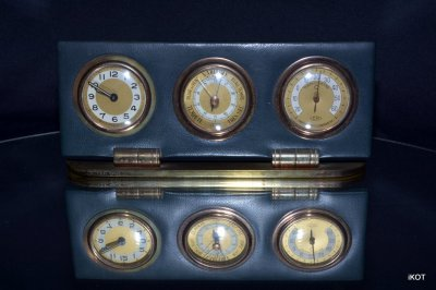 Vintage table Clock-Thermometer-Barometer