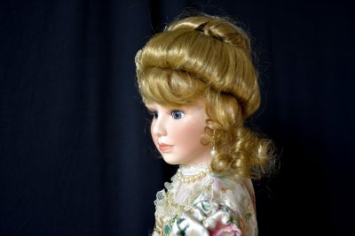 Doll in Victorian style clothes