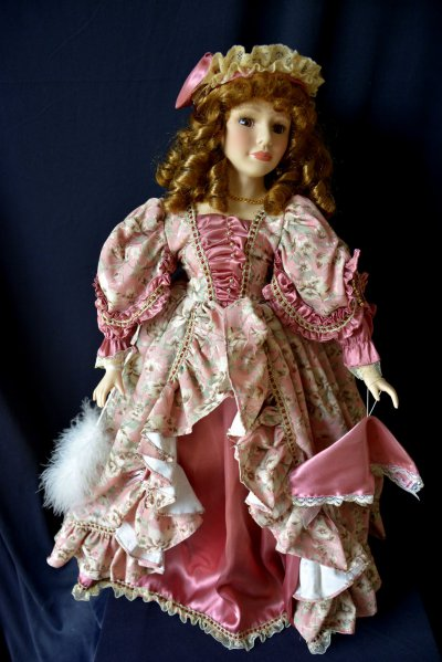 French Doll in Victorian style clothes