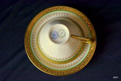 Limoges кофейный сервиз Инкрустация золотом