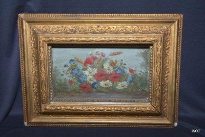 Антикварный натюрморт «Цветы»
