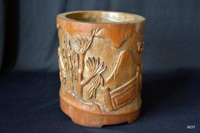 Индокитай Резная бамбуковая ваза Фруктовый сад