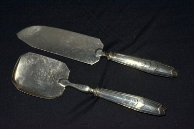 "Antique serving set for fish ""French style"""