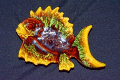 керамика Валаурис Vallauris Пластина-поднос Рыбка