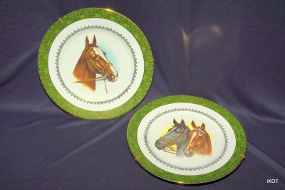 Limoges Decorative paired plates Horses
