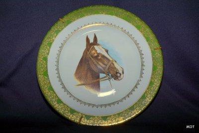 Лиможский фарфор Декоративные тарелки Лошади