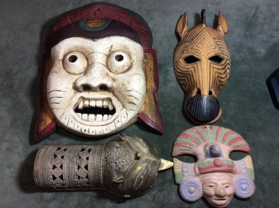 Collection of 4 exotic masks