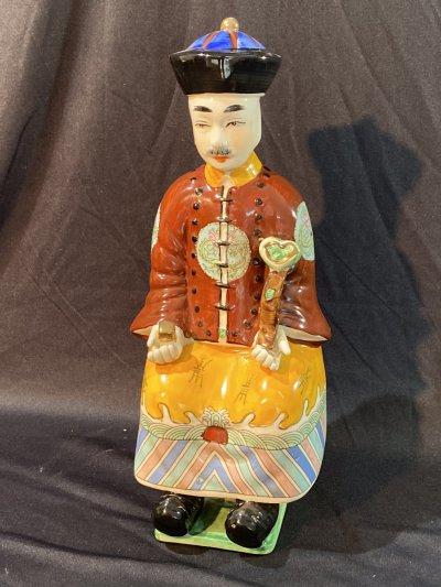 "Statuette ""Sitting Chinese Man"""