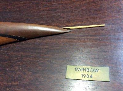 """Полу-модель парусника """"Rainbow-1934"""""""