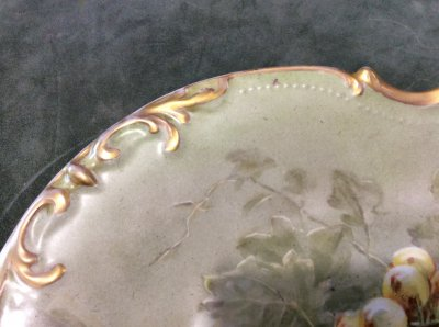 "Limoges. Ceramic plate ""Rabbit with grapes"""