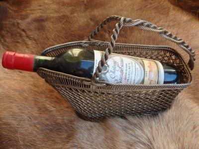 Винтажная ажурная корзинка для вина