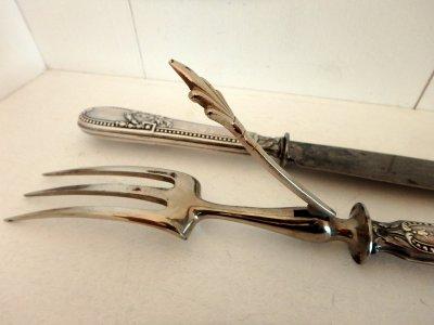 Разделочный набор для мяса из двух предметов нож и разделочная вилка