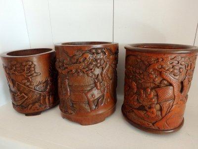 Indochina Bamboo vase Fruit orchard Antique