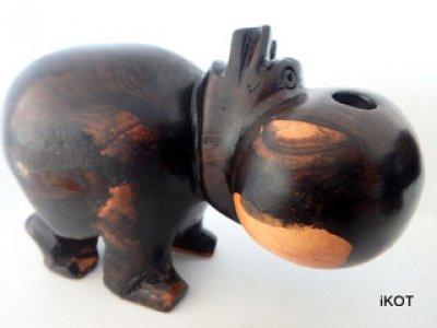Деревянные фигуры Африканские Бегемоты