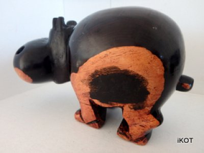 "Exotic wood African ""Hippos"""