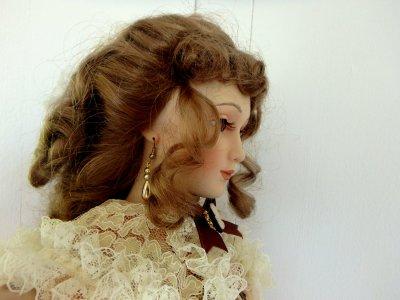 одежда Викторианской эпохи кукла Дева с зонтиком