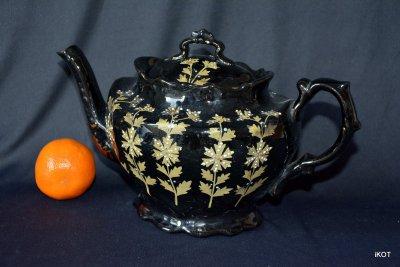"England. Jackfield. Teapot ""Victorian black"""