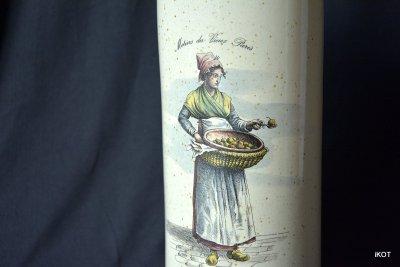 vintage Bottle  wine Pear Tincture liquor  France Normandy
