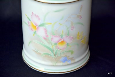 Limoges  jug container Rose daffodils