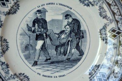 J.Vieillard&Cie Декоративные тарелки Французские зарисовки