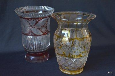 Винтажные хрустальные вазы Богема
