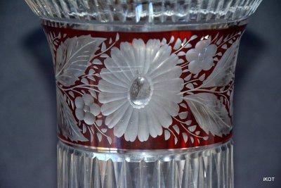 """Bohemia vase """"Ruby lace"""""""