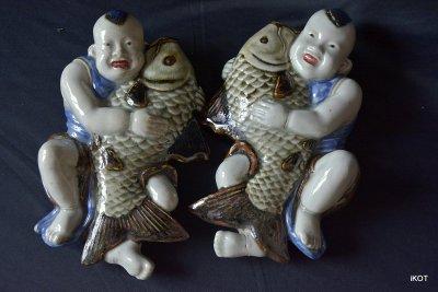 """Chine. Wall vases """"Fisheman"""""""