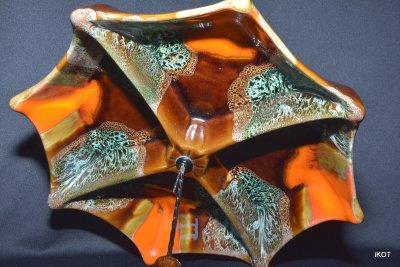 Vallauris Валаурис четырехсторонняя ваза пластина поднос Зонтик Роза Ветров