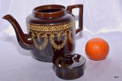 antique england jackfield dewey teapot