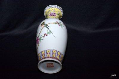 Cтаринная Китайская ваза «Ветка с попугаем» Jingdezhen