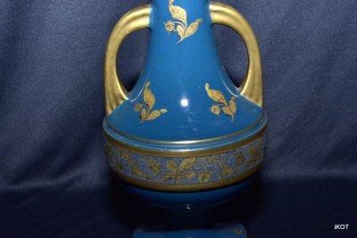"""антикварные парные вазы """"Голубой оралин"""""""
