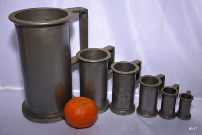 "Set of 6 tin containers ""Regin"""